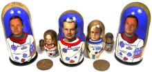 2000 SPACE COLLECTIBLES, NESTING DOLLS (x3 SETS), SPACE MEDALS (x2)