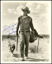 1958 JOHN WAYNE AUTOGRAPHED PHOTO