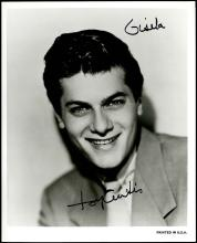 GROUP OF AUTOGRAPHED PHOTOS FROM TONY CURTIS FAMILY (x6)