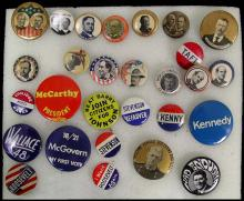 POLITICAL CAMPAIGN BUTTONS TEDDY ROOSEVELT TO BILL CLINTON COLLECTION