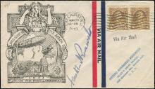 1933 MEMORIAL COVER FOR USS AKRON DISASTER, SIGNED FDR