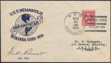USA 1936 ROOSEVELT SIGNED USS INDIANAPOLIS COVER