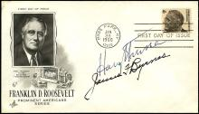 1966 HARRY S TRUMAN AND JAMES BYRNES ON 1966 FDR FDC, WITH LETTER
