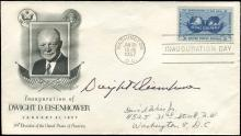 1957 DWIGHT D. EISENHOWER SIGNED INAUGURATION COVER