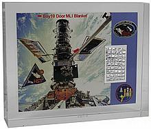 1990-99 FLOWN HUBBLE SPACE TELESCOPE MLI FILM IN LUCITE