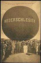 1914 GERMANY 'NIEDERSCHLESIEN' BALLOON FLIGHT CARD