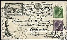 1927 LUXEMBOURG PRE-PRINTED BALLOON MAIL CARD