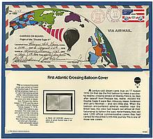 1978-81 DOUBLE EAGLE II & V BALLOON FLOWN COVERS & FABRIC SWATCHES