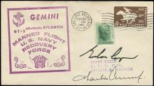 GT-5 1965 CREW SIGNED RECOVERY SHIP COVER