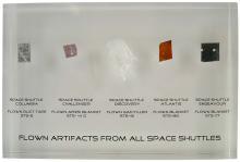 1982-98 SPACE SHUTTLE FLOWN ARTIFACTS - ALL 5 SHUTTLES