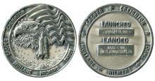 1990 STS-36 SILVER ROBBINS MEDALLION #158