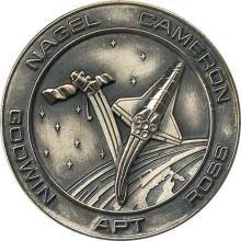 1991 STS-37 SILVER ROBBINS MEDALLION #87