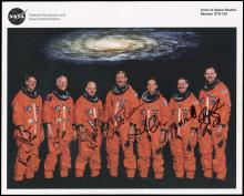 STS-103 1999 HUBBLE MISSION CREW SIGNED LITHO