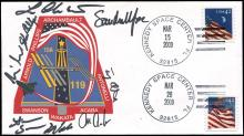 2009 STS-119 CREW SIGNED LAUNCH AND LANDING COVER