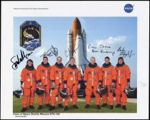 2008 STS-126 CREW SIGNED LITHO
