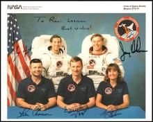 1991 SPACE SHUTTLE CREW-SIGNED LITHOS (x6)