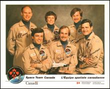 1980s SPACE TEAM CANADA SIGNED LITHOS (x6)