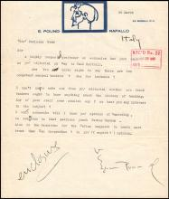 1935 EZRA POUND, AUTOGRAPHED LETTER ON LETTERHEAD, WITH NOTATIONS, CONTENT