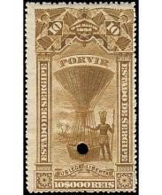 1894 BRAZIL (SERGIPE) HOT AIR BALLOON MOTIF REVENUES 50r-10000r