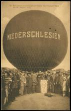 1914 GERMANY 'NIEDERSCHLESIEN' BALLOON FLIGHT CARD