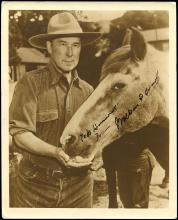 1930s-50s WESTERN TV & MOVIE STARS AUTOGRAPHS