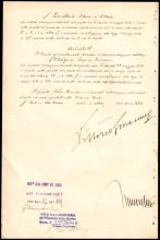 1936 ROYAL DECREE SIGNED BY MUSSOLINI AND KING VICTOR EMMANUEL III