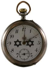1930s POCKETWATCH WITH DOUBLE STAR OF DAVID