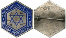 WARSAW 1940s GHETTO POLICE BREAST & HAT BADGES