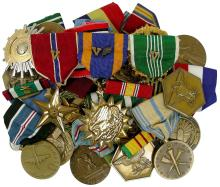 1940s-70s USA MILITARY MEDALS, WWII-VIETNAM