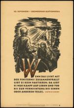 1942 NSDAP NAZI PROPAGANDA POSTERS OF 'THE WEEK' (x4)