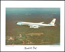1970s GERALD FORD SIGNED PHOTO OF AIR FORCE ONE