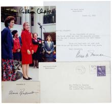 1940s-2000s PRESIDENTIAL FAMILY & VICE PRESIDENT AUTOGRAPH GROUP