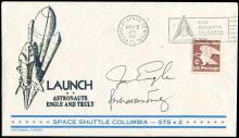 1981 STS-2 CREW SIGNED LAUNCH COVER