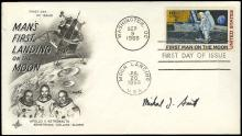 1986 STS-51L MICHAEL J. SMITH SIGNED LITHO & COVER