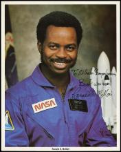 1986 STS-51L RON MCNAIR SIGNED LITHOS (x2)