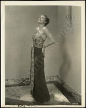 MARY ASTOR 1920-60s SIGNED SILVER GEL & NOTE CARD