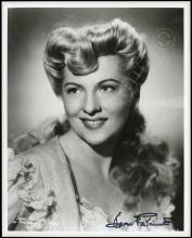 JOAN FONTAINE 1930s-40s SIGNED PHOTOS (x5)