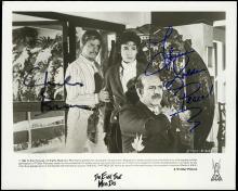 CHARLES BRONSON & THERESA SALDANA 1984 SIGNED PUBLICITY STILL