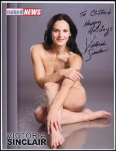 'NAKED NEWS' ANCHORS 2000s AUTOGRAPHED PHOTOS (x15) ALL NUDES