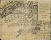 1944 WWII GENERAL PATTON OPERATION DRAGOON INVASION MAP