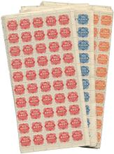 1944 BRITISH OPERATION OVERLORD FORGED GERMAN RATION STAMPS