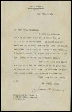 1918-30 JANE ADDAMS SIGNED LETTERS (x5)