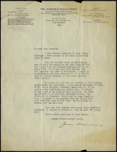 1920s-30s JANE ADDAMS SIGNED LETTERS (x6) W/ TELEGRAM