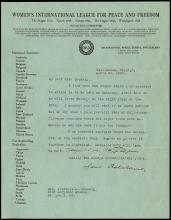 1921-34 JANE ADDAMS SIGNED LETTERS (x5)