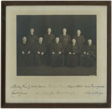 1943 HARLAN F. STONE SUPREME COURT PHOTO SIGNED BY ALL NINE JUSTICES