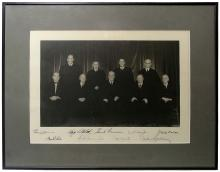 1953-69 EARL WARREN SUPREME COURT PHOTO SIGNED BY ALL NINE JUSTICES