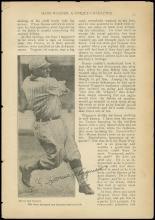 1940s-50s HONUS WAGNER SIGNED MAGAZINE PAGE