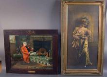 Pair of Vintage Prints in Period Frames