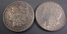 Pair of Morgan Silver Dollars. 1890 O & 1900
