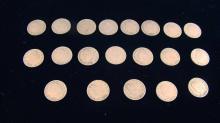 Lot Including 19 V Head Nickels
